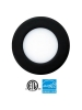 "EEL UTLED-6-S12W-3KBK - UltraThin 6"" LED Recessed - 12 Watt - 700 Lumens - 3000K - 1/2"" Thickness - 120V - IC Rated - Black Trim"